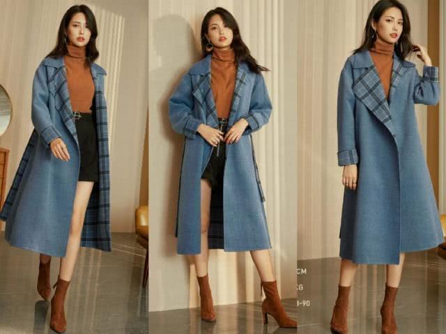 2019年流行的蓝色大衣,学会这4种搭配,好看又显气质!