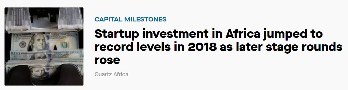 2018,非洲創業公司獲得創紀錄融資,風投砸7.256億美元:風投公司排名2018