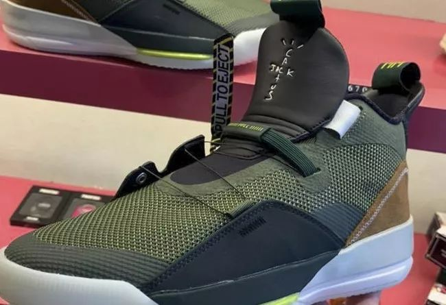"Travis Scott x Air Jordan 33 NRG ""Olive""  货号:CD5965-300"