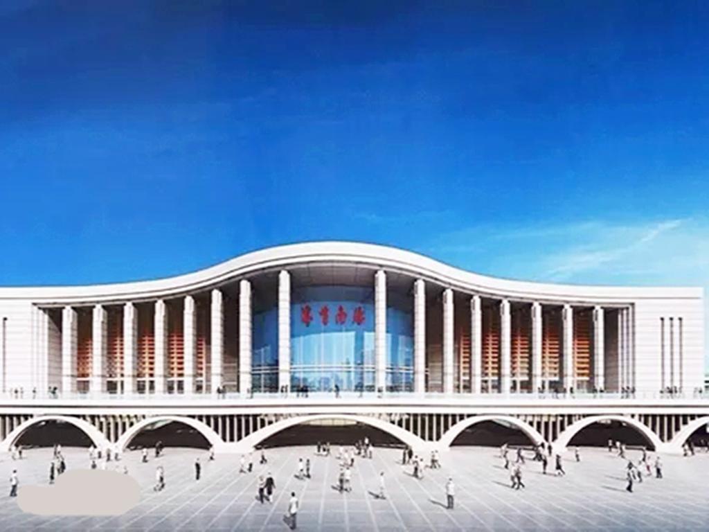 安徽在建的一座高铁站,站台规模2台4线,站房规模10000平方米