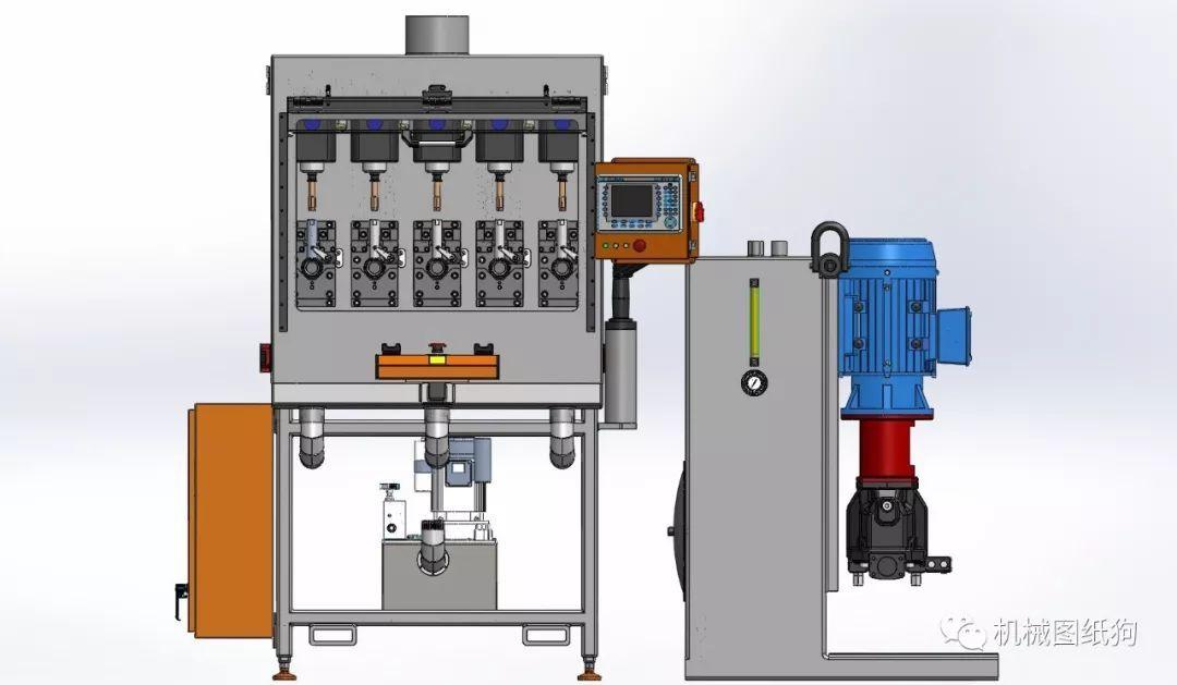 【工程机械】液压攻丝机3d数模图纸 solidworks设计 附step格式