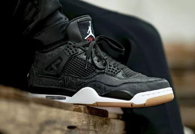 "Air Jordan 4 ""Black Laser""  货号:CI1184-001 上脚真心帅!黑镭射"