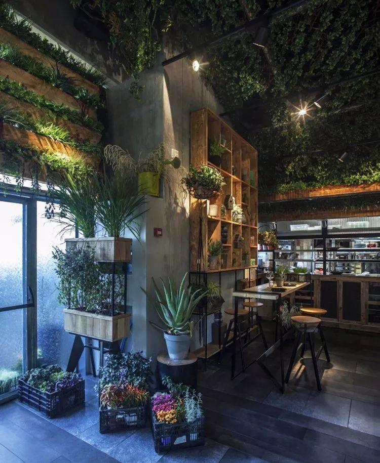 Dulang Kitchen Bar Garden: 温室生态餐厅植物与园林建筑小品如何搭配_景观