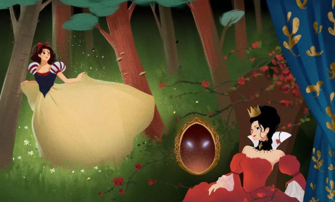 《白雪公主》的动画片陪伴着小呀度过了无忧无虑的童年善良,勇敢国外电影你懂图片