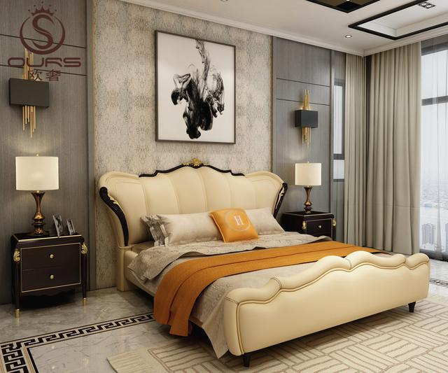 9款大气典雅真皮软床舒适百搭风格家居生活显档次!