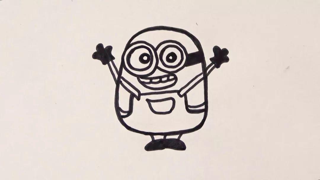 教宝宝学画简笔画 小黄人 围观 和 宝贝工作室 小朋友一起学习俏皮又简单的小黄人吧
