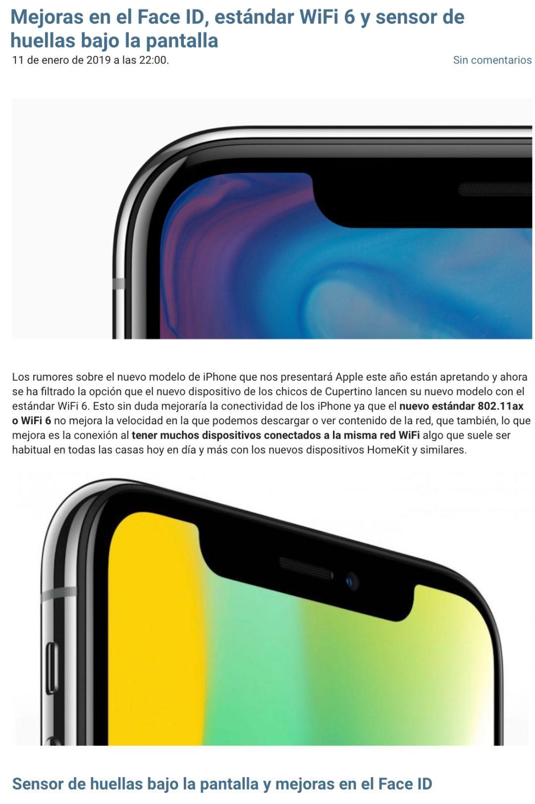 2019款iPhone:或使用三星、聯發科基帶,支持WiFi 6,改進Face