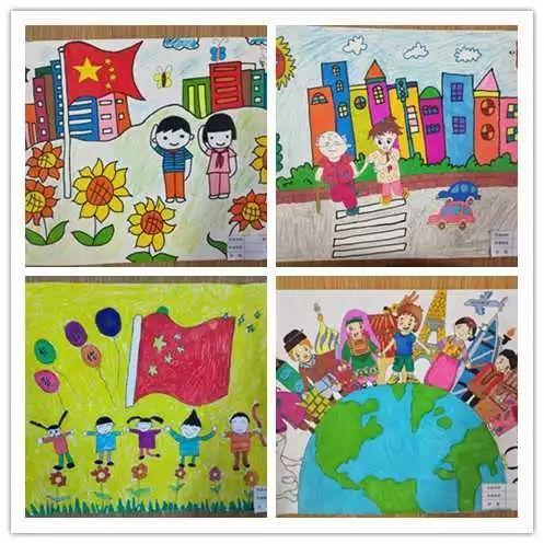 核心价值观,童心来描绘 城南办事处中心幼儿园长盛分园开展新年主题绘画活动