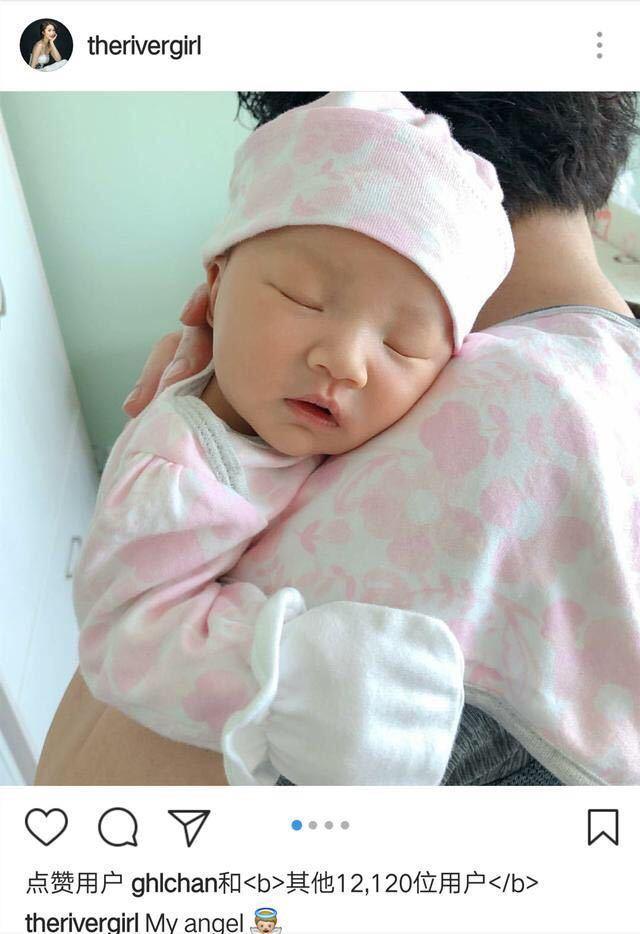 基因太强大!李亚男晒女儿大眼超萌正面照,像极了王祖蓝的妈妈!