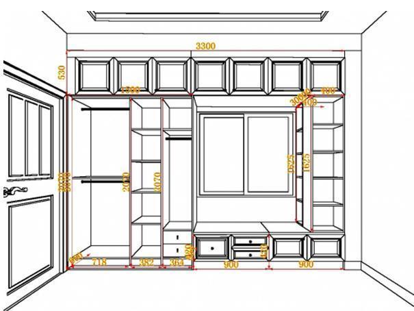 35款流行衣柜尺寸设计图,新房装修不懂可以看看!