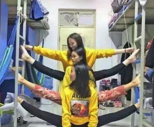 爆笑GIF图:舞蹈系妹子的宿舍,满屏艺术气息