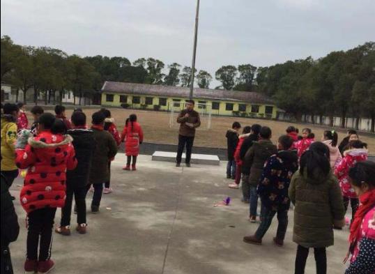 湖北沙洋县瞄集小学:寒假春节快来到 安全教育做得早