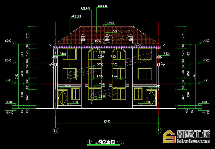 双拼建房别墅多,15.6X14m三层大气省钱又农村好处别墅园林设计图片