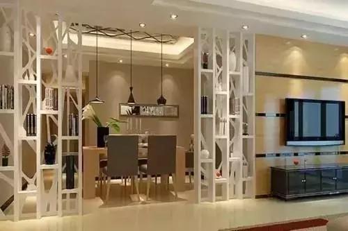 客厅和餐厅隔断这样设计,新房变得美美哒!