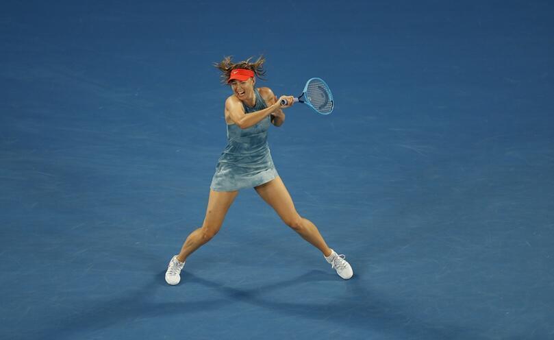 澳网-莎拉波娃2-1力克沃兹尼亚奇 挺进女单16强