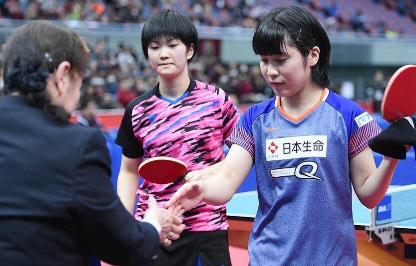 平野美宇爆冷1-4负14岁小将 止步日本赛女单32强
