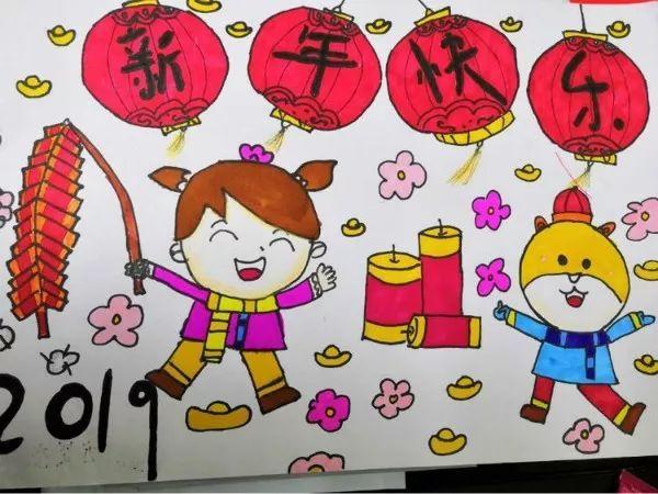 """直属小学""""迎新年""""主题绘画作品展图片"""