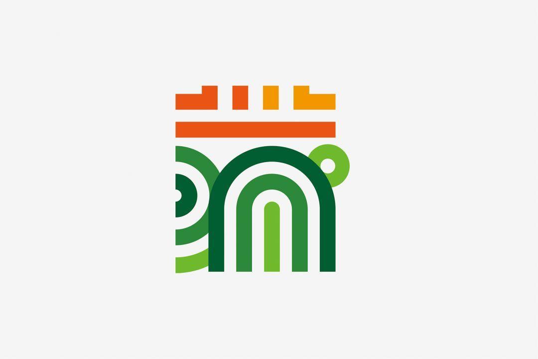 """蒲江城市logo以汉字""""蒲""""为设计元素图片"""