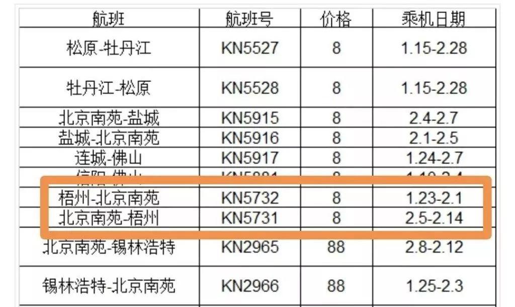 8元可抢票位于藤县的西江机场飞北京上海长沙航线已经售票!