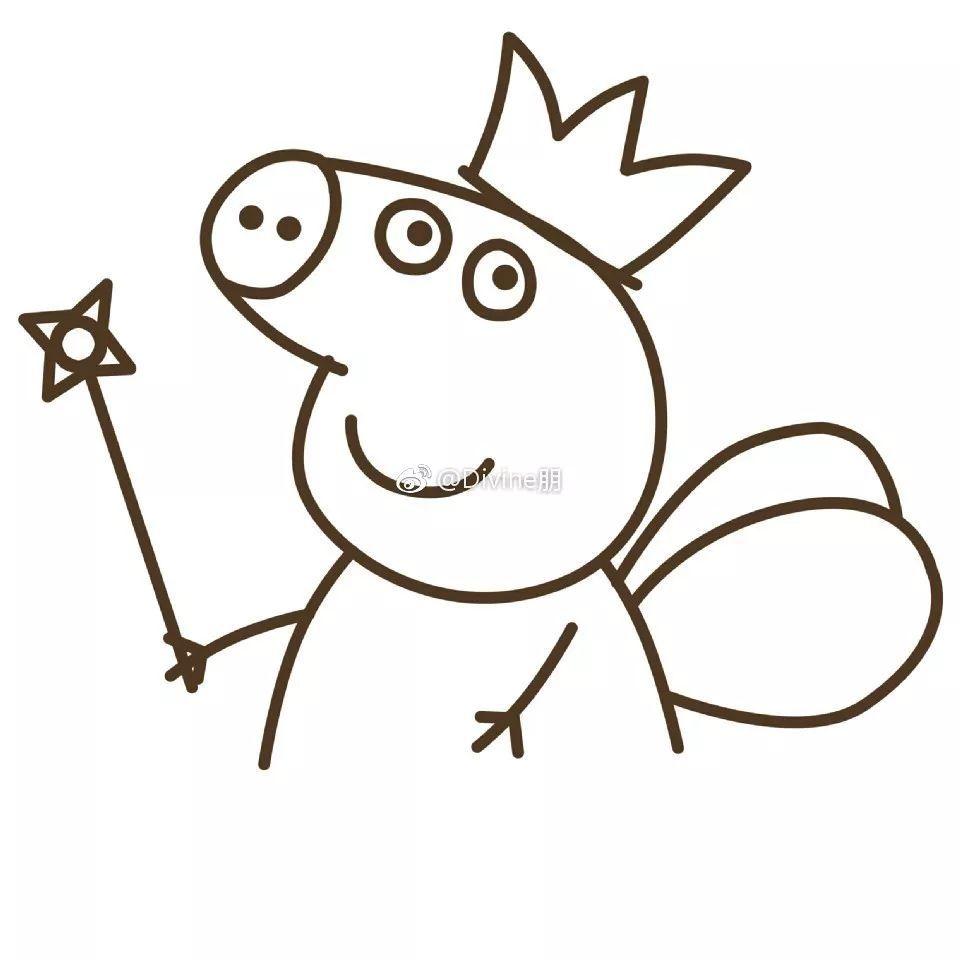 小猪佩奇的   卡通   简笔画法,小猪佩奇的简笔画作品,简单又好看的小猪佩奇简笔画,小猪佩奇是一款非常流行的小   动物   ,图片