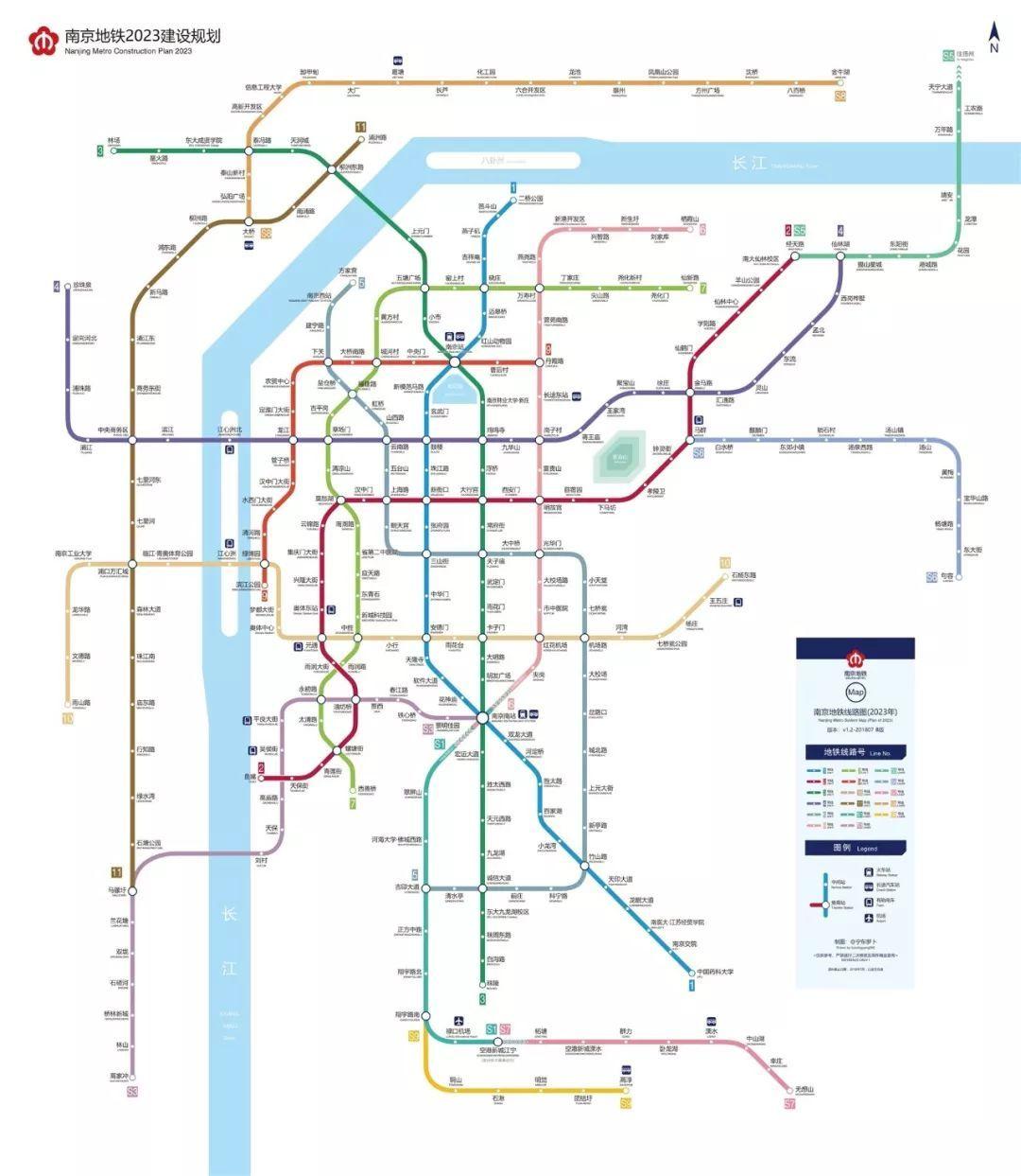 南京地铁2022建设规划图出炉 附南京最新地铁建设情况一览
