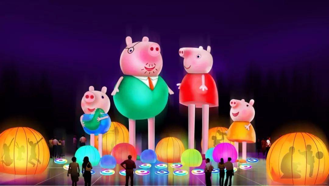 """极致回味""""为主题,既有""""小猪佩奇"""",""""鼓舞新春""""等与猪年春节有关的花灯"""