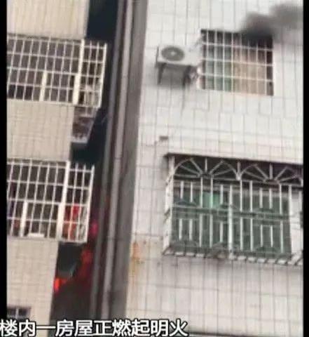 广州一出租屋发生火灾 悬停的电梯内发现一具男性尸体
