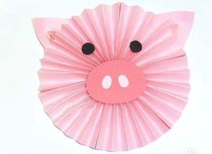 幼儿园创意手工制作,快乐的小猪!