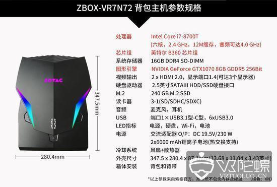索泰推出可穿戴VR主机背包VR GO2.0
