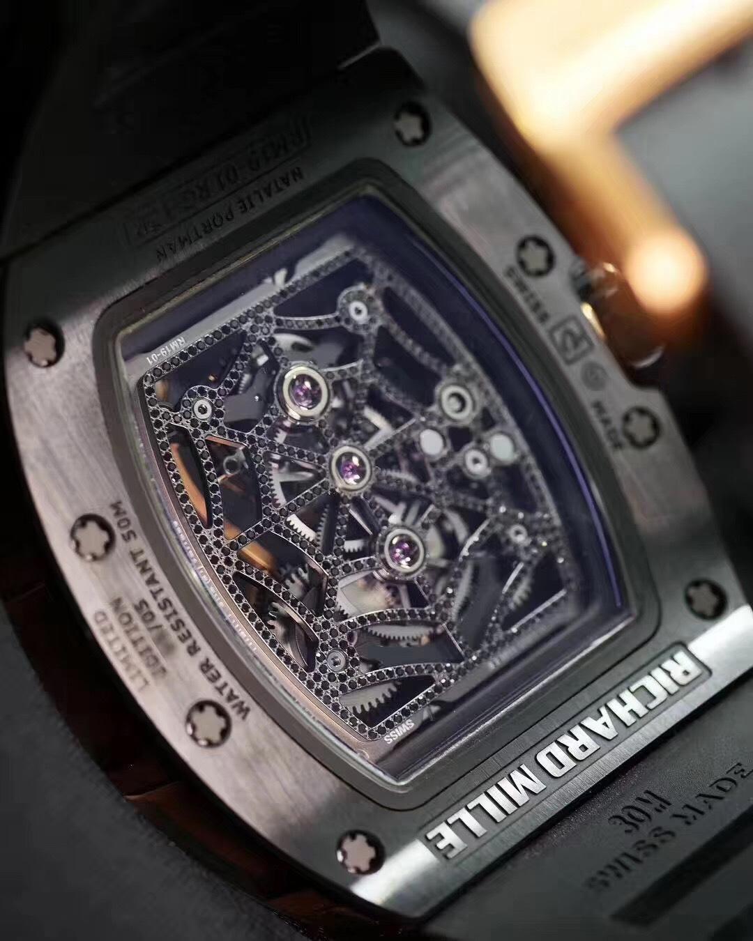 限量版最服你 理查德米勒RM19-01蜘蛛陀飞轮手表 澳门高价回收理查德米勒手表