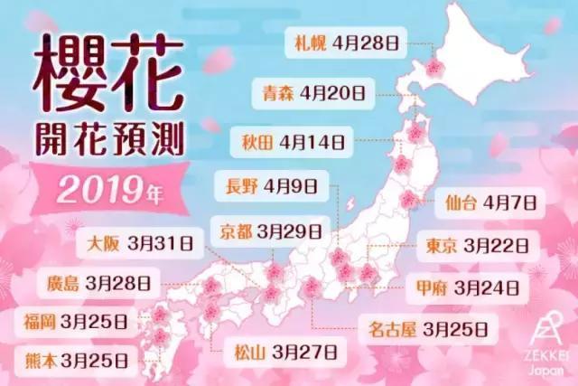 日本哪里的樱花最美? 2019年这些地方都可以慢慢看