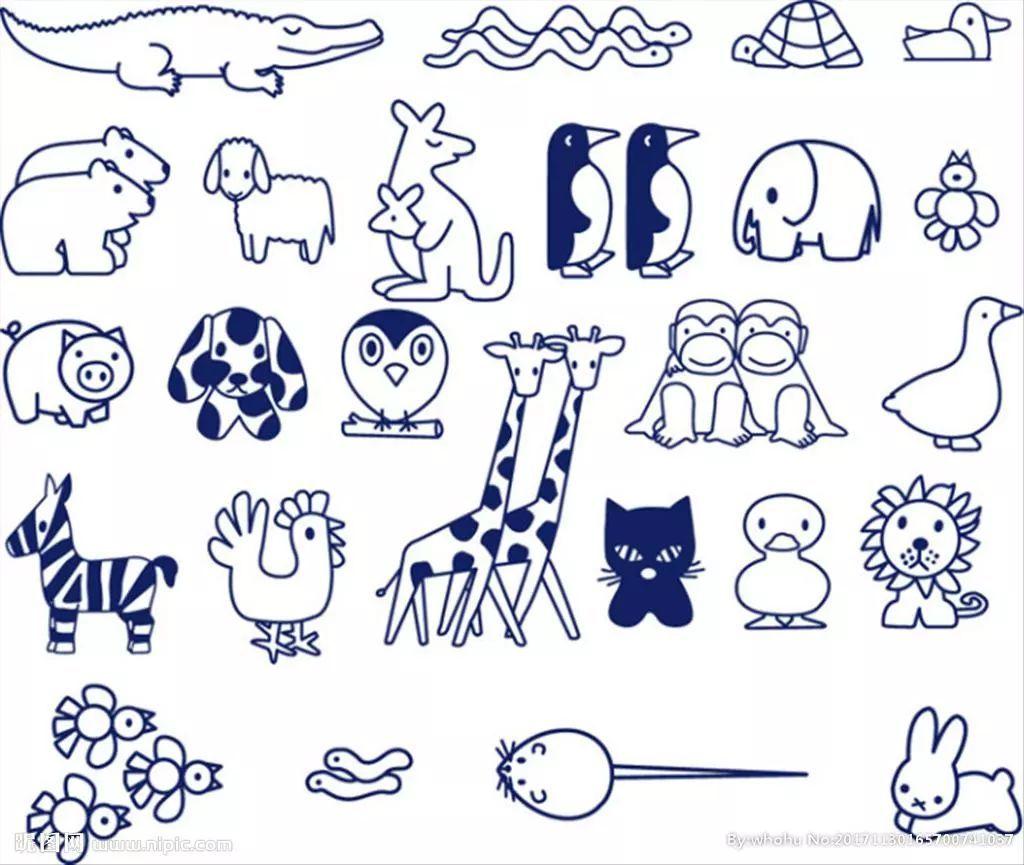 素材 一些动物简笔画素材