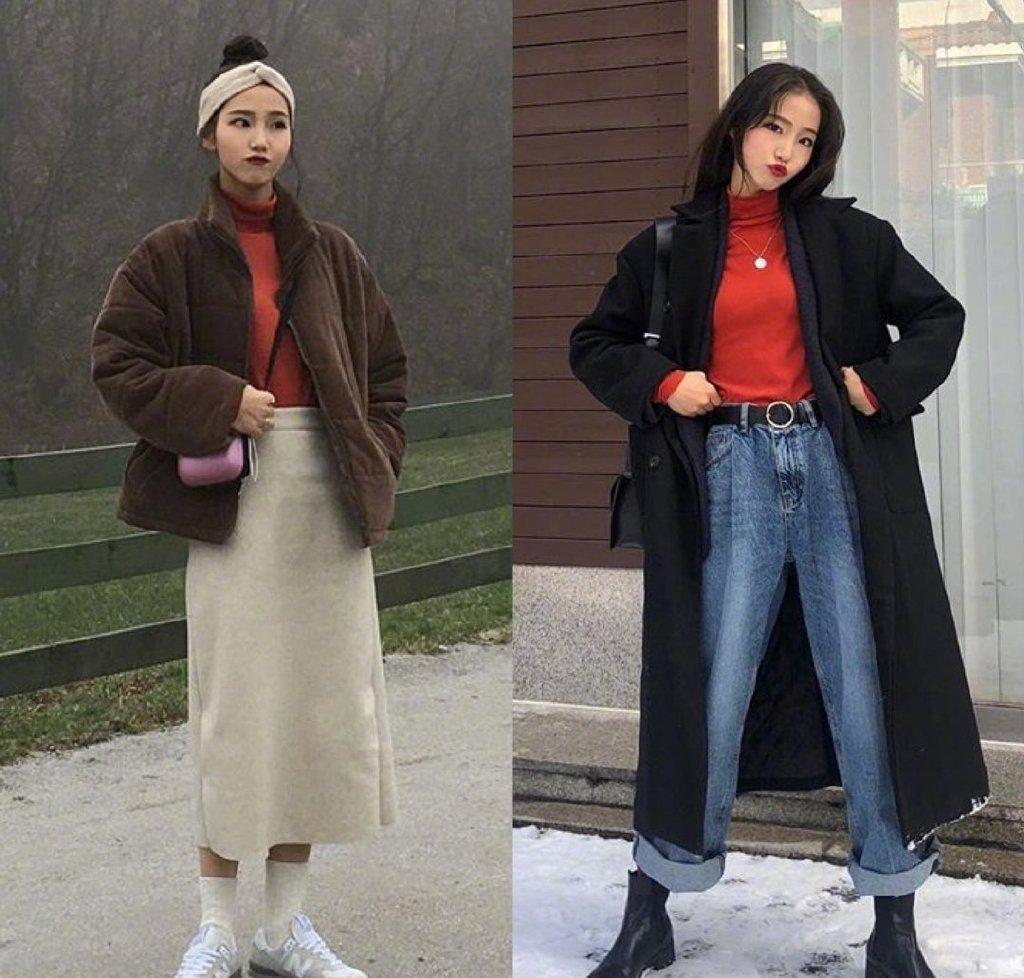 原創             堪稱冬季穿搭典範,羊羔絨搭配半身裙少女感爆棚,優雅又青春靚麗 形象穿搭 第3張