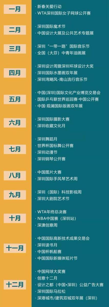 2019年深圳最好玩的活动都在这了!每个月都可以不重样