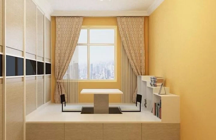 榻榻米 升降台,大收纳的隐藏空间看起来整洁干净,升降台既是工作台图片