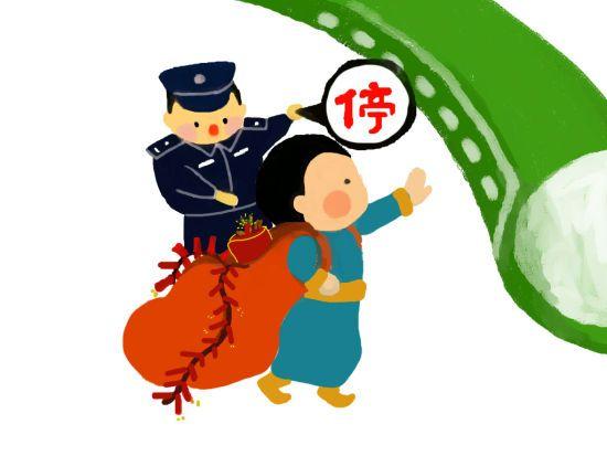 """内蒙古""""90后""""女铁警手绘护春运"""