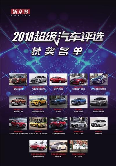 2018超级汽车评选获奖名单