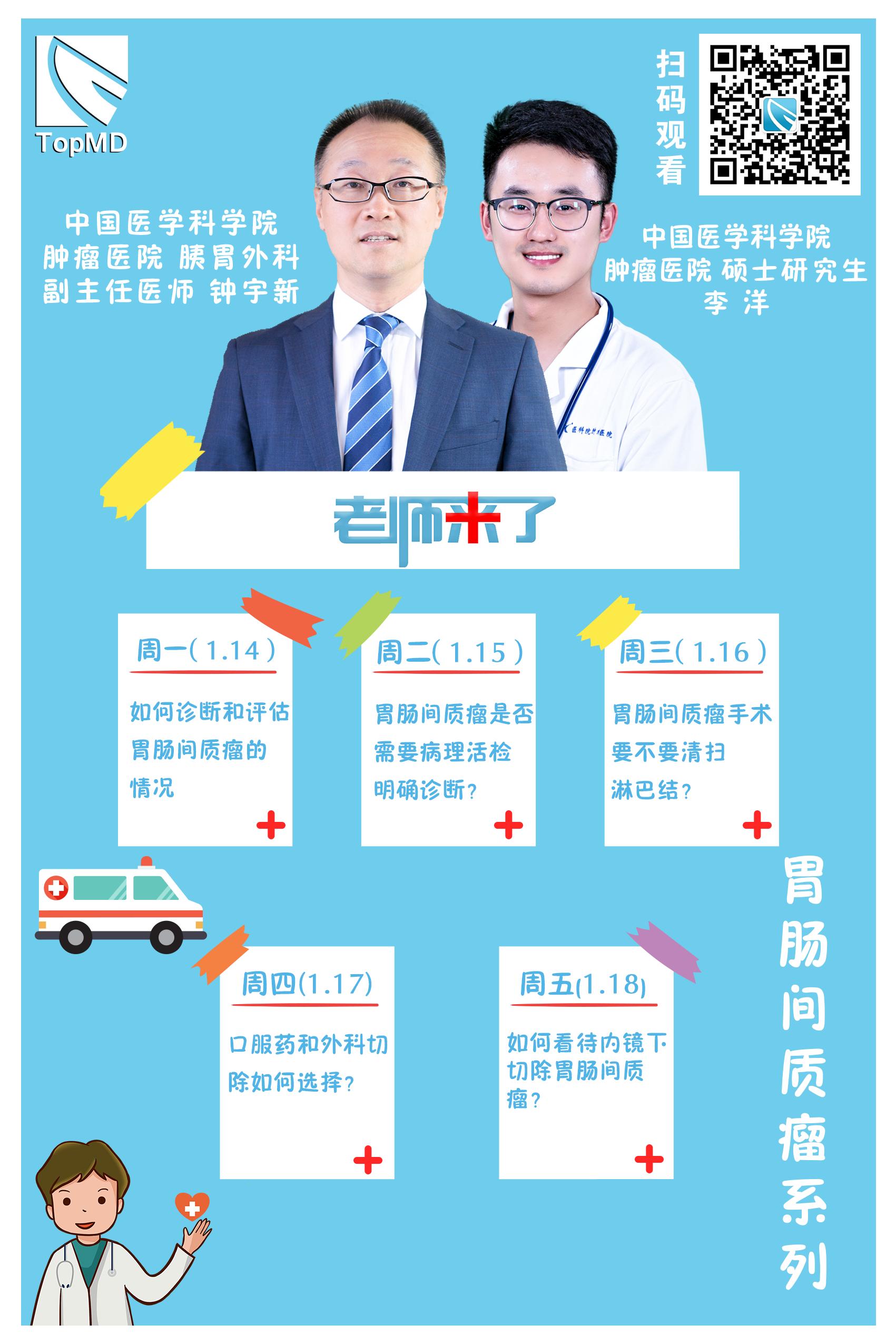 【老师来了】胃肠间质瘤手术需要清扫淋巴结吗?