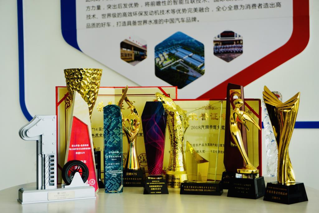 卓越品质和品牌荣誉2018年,汉腾汽车获得多项大奖