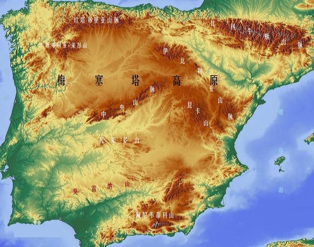 伊比利亚半岛是南欧地区的三大半岛之一,西临大西洋,北临比斯开湾,南图片