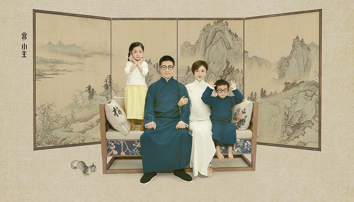 创意三人全家福_2019年新年如何拍全家福?西安著名摄影讲师刘国涛教你全家福