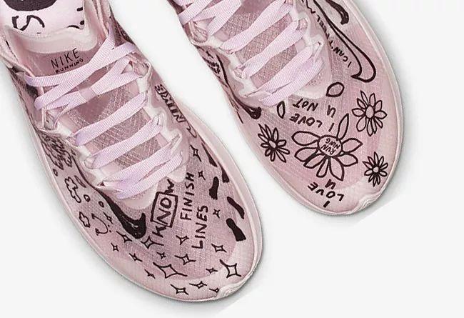 趣味涂鸦!这双 Nike「半透明跑鞋」货号:AT5242-100