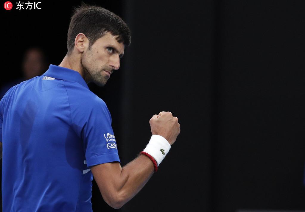 澳网-德约三盘胜纳达尔 超费德勒创纪录7度夺冠