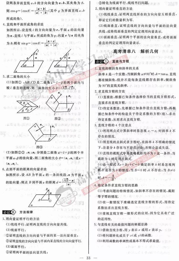 如果你感觉数学很难, 这份高中数学知识清单一定要看一遍!
