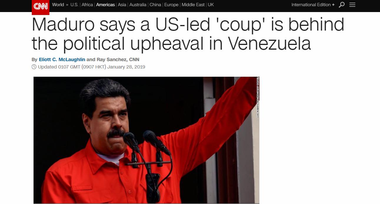 马杜罗反击:没人能给我们下最后通牒 委内瑞拉是美国阴谋受害者