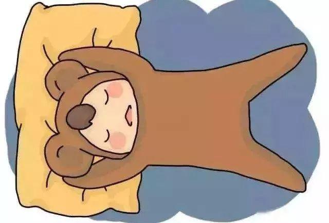 换个睡觉姿势试试看!图片