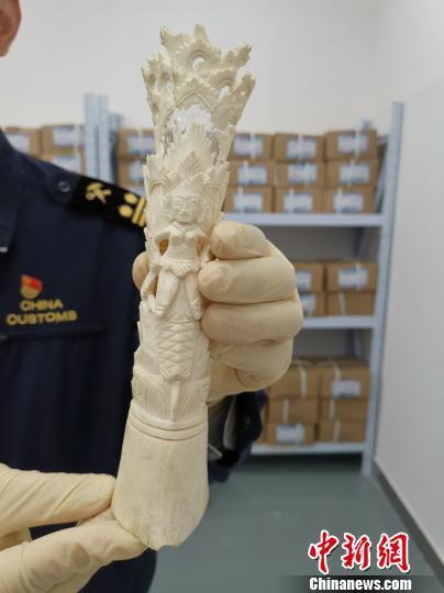 南宁海关在邮寄渠道连续查获涉走私象牙制品