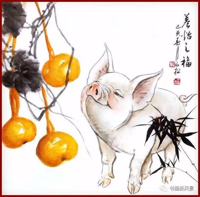 [文学艺术]他画的小福猪,太逗啦!图片