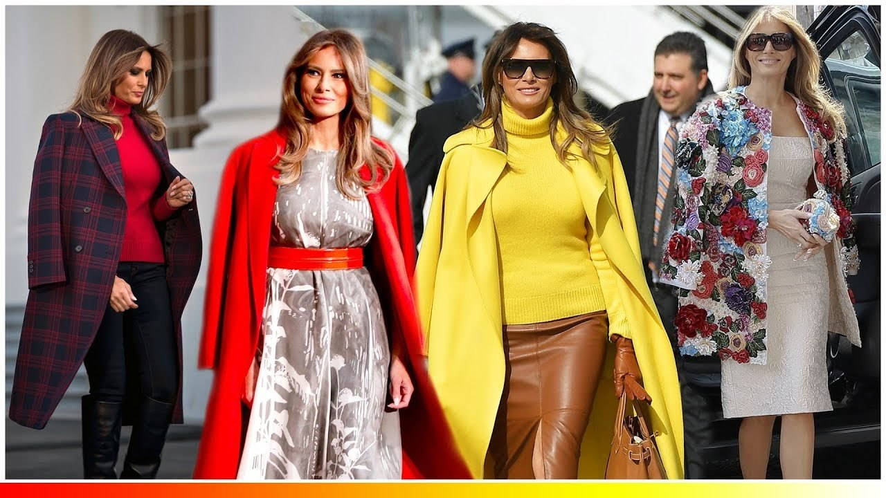 原創             將大衣披在肩上增加氣場我只服梅拉尼婭,就連高冷的貝嫂都比不上 形象穿搭 第1張