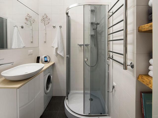 窄小的卫生间装修案例,布局值得学习